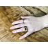 Tripple moon ring hout