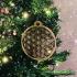 Fleur de Vie | Flower of life | Levensbloem hout kerstdecoratie 9cm 3/set