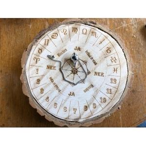 Houtschijf  Diameter 22-24cm rond - Pendelbord